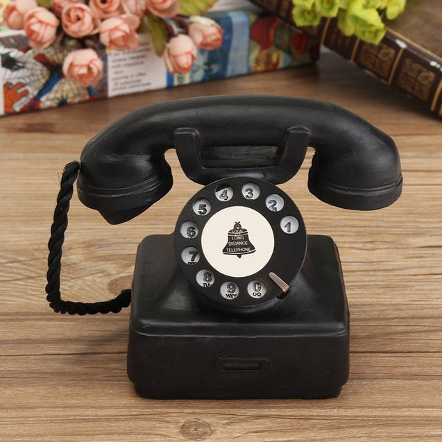 Vintage Antique Imitation Resin Rotary Telephone Model Creative Phone For Office Home Decoration