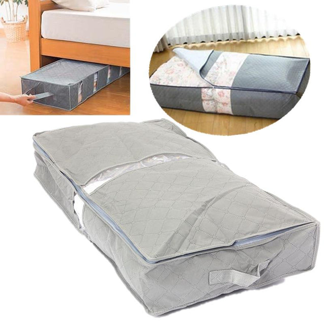 IPRee 75.63912.6cm Under-Bed Organizer Under the Bed Storage Bag Box Gray for Clothes Blankets