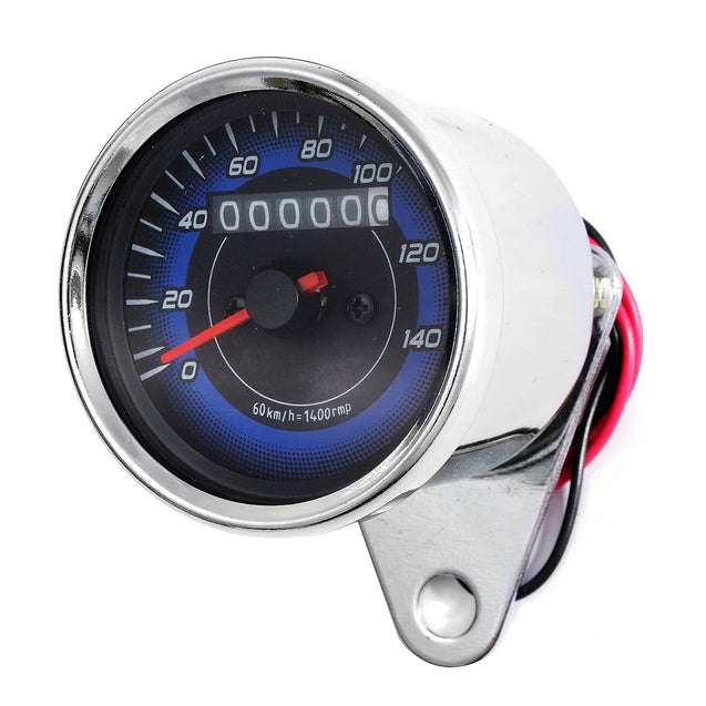 12V Dual LED Backlight Motorcycle Odometer KMH Speedometer Gauge Universal