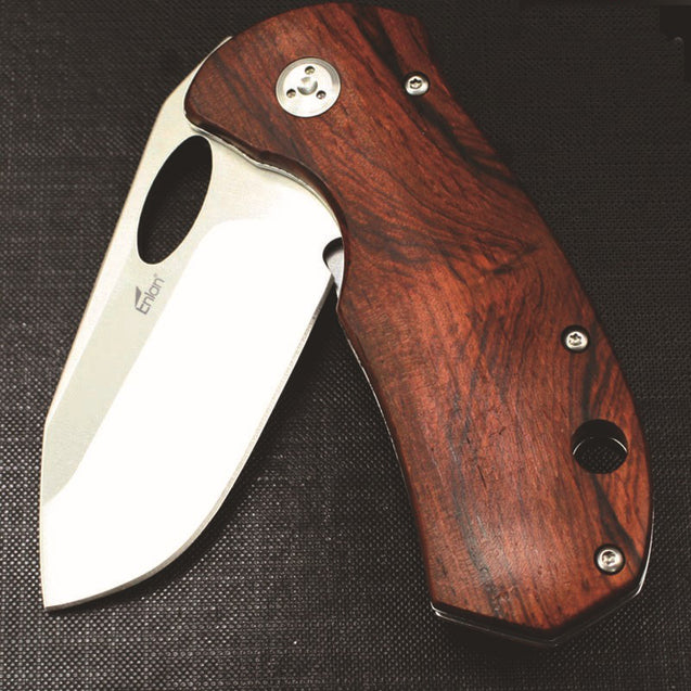 Enlan EL-05 179mm 8CR13MOV Stainless Steel Blade Wood Handle Outdoor Folding Knife Mini Pocket Knife