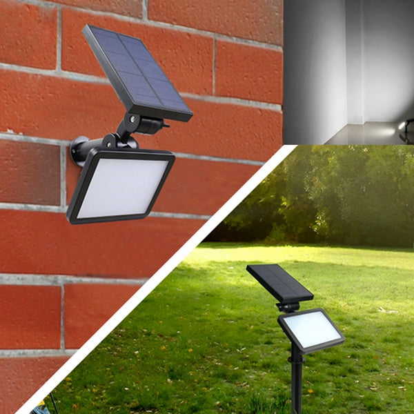 Solar Powered 48 LED Light Outdoor Path Wall Landscape Home Garden Fence Lamp