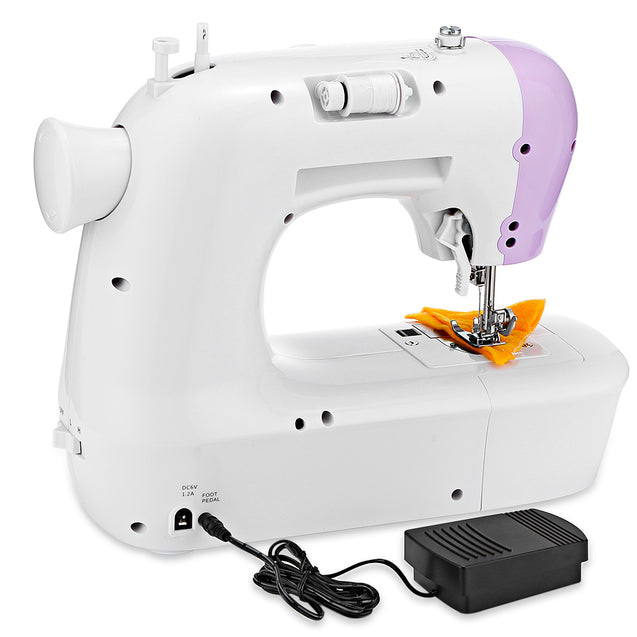 Household Mini Automatic Thread Sewing Machine Double Speed Control Button