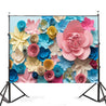 7x5FT Colorful Flower Photography Backdrop Studio Prop Background