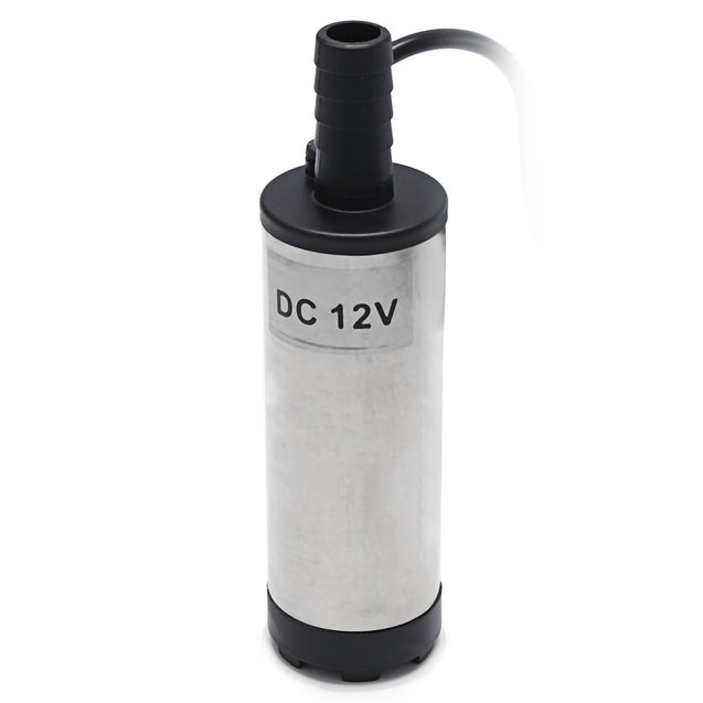 12V 38mm Electric Stainless Submersible Water Pump Oil Fuel Transfer Refueling