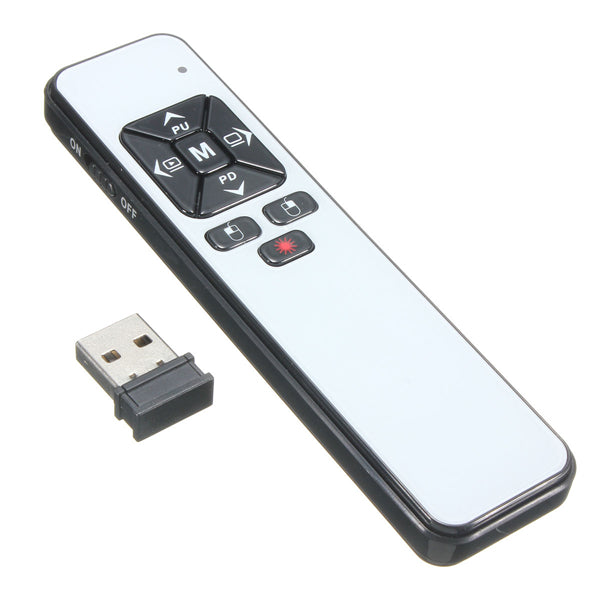2.4GHZ USB Wireless Remote Control Presentation Pen Laser Pointer Pen For PowerPoint Teach Office