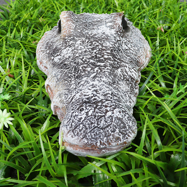 Floating Resin Crocodile Head Garden Pond Pool Realistic Water Features Decorations Pool Ornament