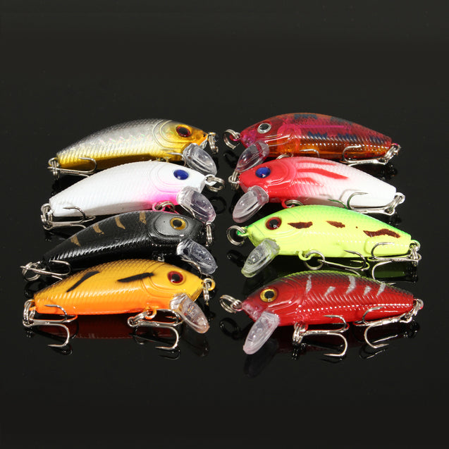 ZANLURE 48PCS Mixed Models Fishing Lures Multicolours Minnow Lure Crankbaits Tackle Set