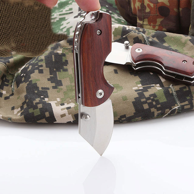 108mm D2 Steel Mini Pocket Folding Knife Outdoor Tactical Defense Camping Fishing Knife