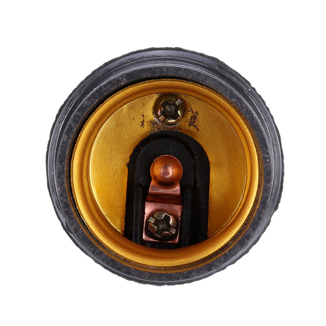 E27 6A Black Retro Light Bulb Adapter Lamp Holder Pendant Edison Screw Cap Socket Light Fittings AC250V
