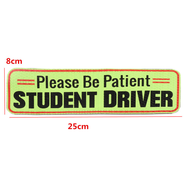 Please Be Patient Student Driver Magnetic Car Bumper Sticker Sign Safety Decal 25x8cm