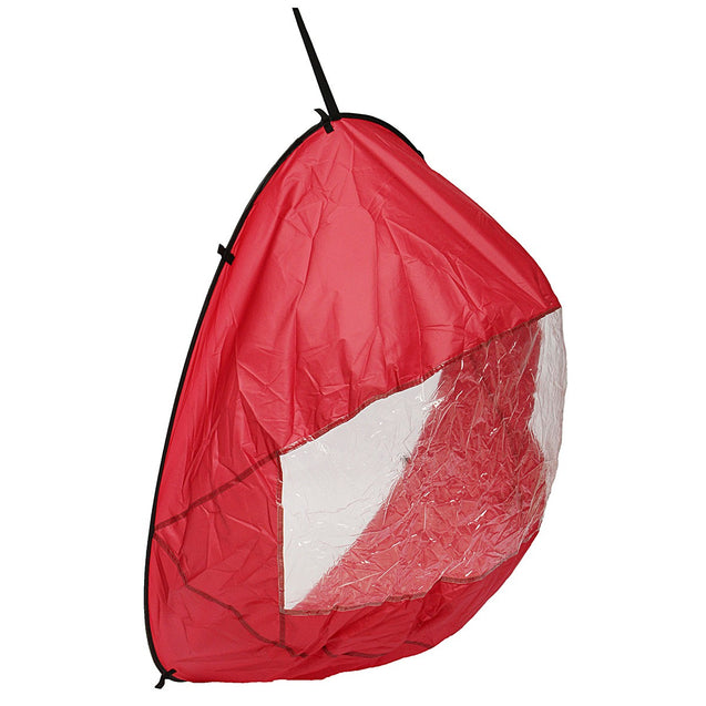 42 Downwind Wind Paddle Popup Kayak Canoe Wind Sail Kayak Accessories Portable Red""
