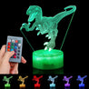 3D Dinosaur Night Light Touch Remote Control Gift Home Decor Sleeping Table Lamp