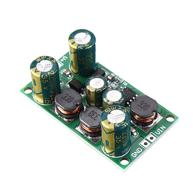 5pcs 2 in 1 8W 3-24V to 15V Boost-Buck Dual Voltage Power Supply Module for ADC DAC LCD OP-AMP Speaker