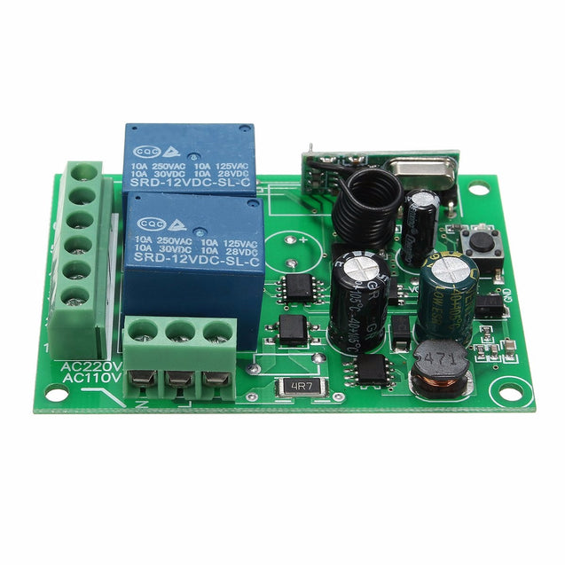 5pcs 315Mhz Wireless Remote Control Switch AC 250V 110V 220V 2CH Relay Receiver Module with RF Remote Controls