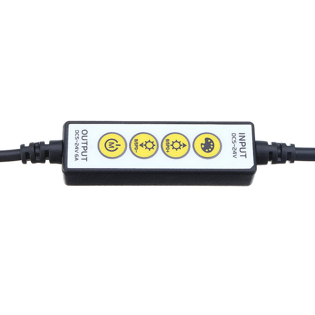 DC5-24V 6A 4 Keys Brightness Adjustable Dimmer Controller for 4PIN CCT LED Strip Light