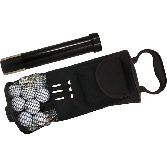 Portable Golf Shag Bag Convenient Pocket Tees Pick Up 75-80 Balls Storage Pouch
