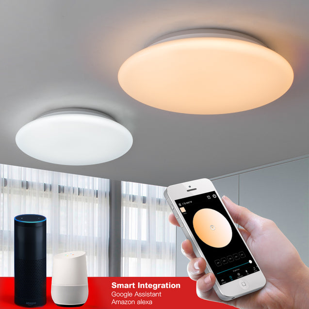 OFFDARKS Smart LED Ceiling Light LXD-XG36 WIFI Voice Control RGB Dimming APP Control Living Room Bedroom Kitchen Ceiling Lamp
