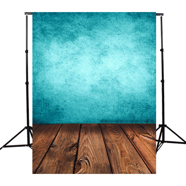 3x5FT Blue Board Wood Photography Background Backdrop Studio Photo Prop