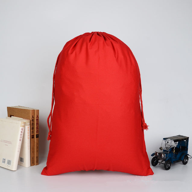 5Pcs Christmas Drawstring Bag Pack Gift Storage Bag Handbag Canvas Xmas Pouch 50x70cm