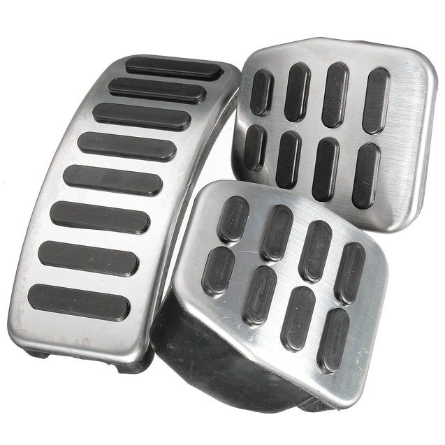 Stainless Steel MT Pedal Pads For VW Polo Jetta MK4 Bora Lavida Golf MK4 Fabia