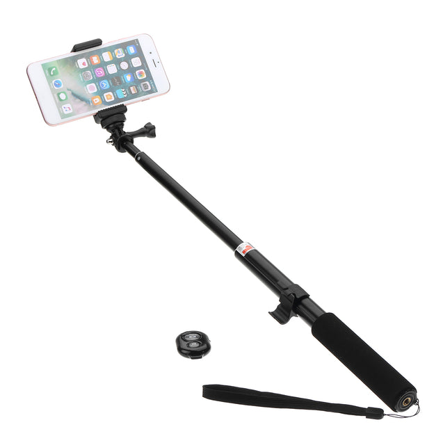 Monopod Selfie Stick Handheld Tripod Bluetooth Shutter Clip For Smart Phone Sport Action Camera
