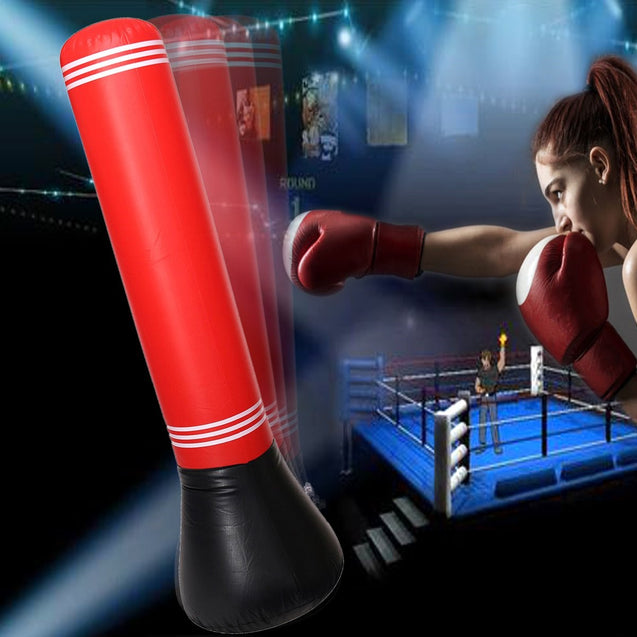 Inflatable Punch Tumbler Fitness Children Beginner Boxing Training Air Bag
