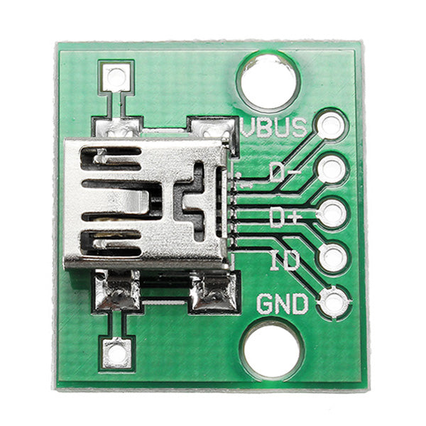 20pcs USB To DIP Female Head Mini-5P Patch To DIP 2.54mm Adapter Board