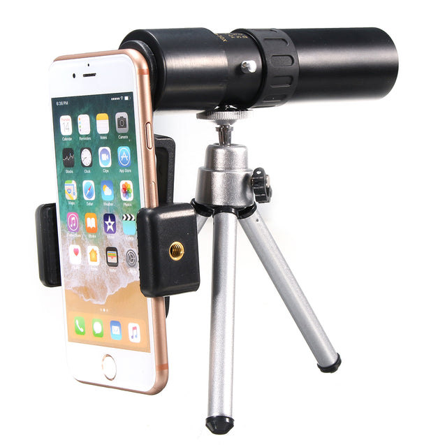 10-30x25 Zoom Telephoto Telescope Optical Monocular Camera Lens With Phone Clip Tripod