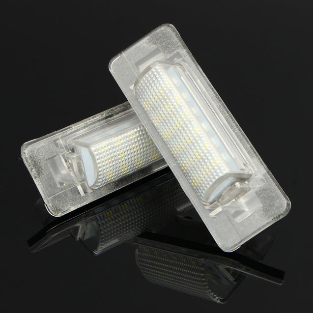 Pair Error Free 18 LED Number License Plate Bulb For Benz W210 4D Sedan Face Lift