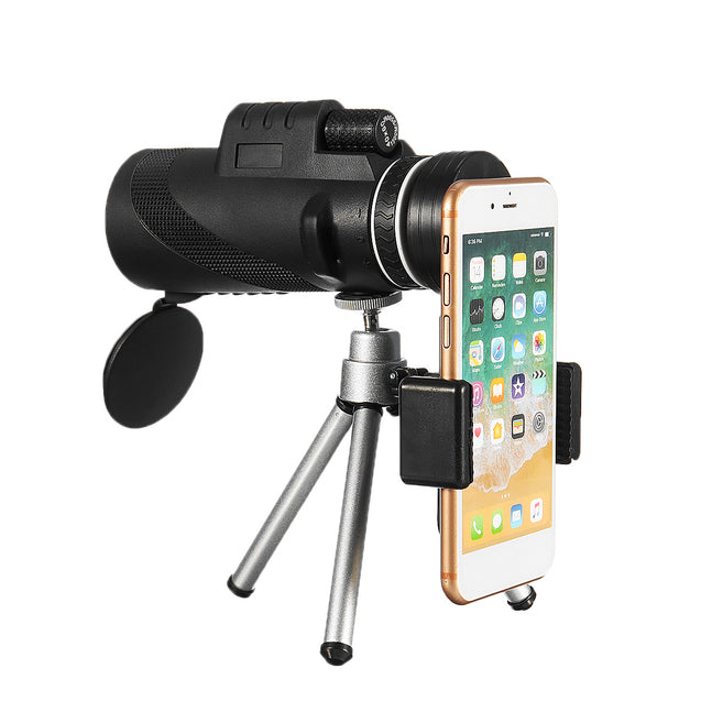 40X60 HD BAK4 Optical Lens Monocular Low Light Level Night Vision Waterproof Phone Telescope