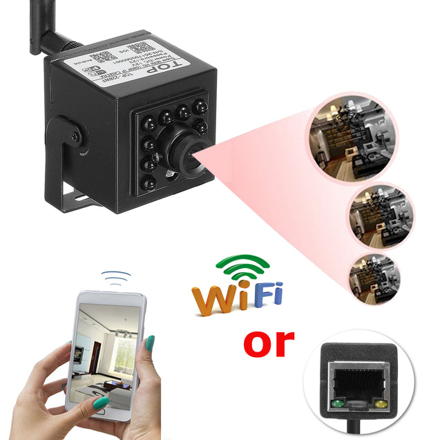 Mini 1.0 Megapixel 720P HD WIFI Hidden Network IP/P2P IR Night Vision Camera Pinhole Security Camera