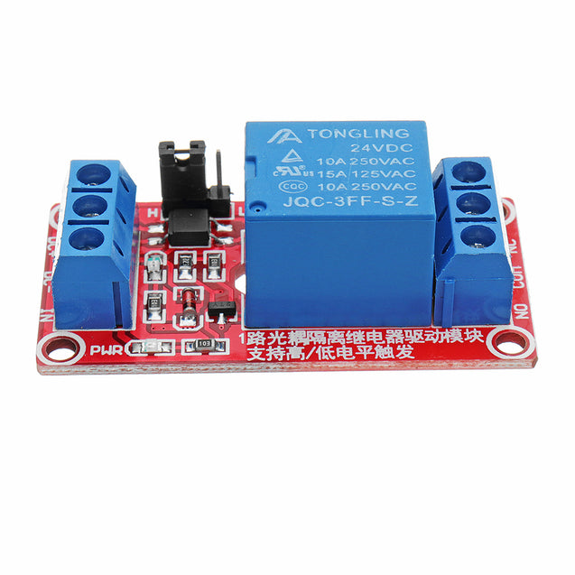 5Pcs 24V 1 Channel Level Trigger Optocoupler Relay Module For Arduino