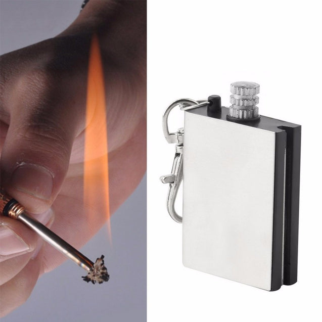 IPRee Outdoor Ignitor Starter Fire Lighter Emergency Keychain Camping Instant Survival Tools