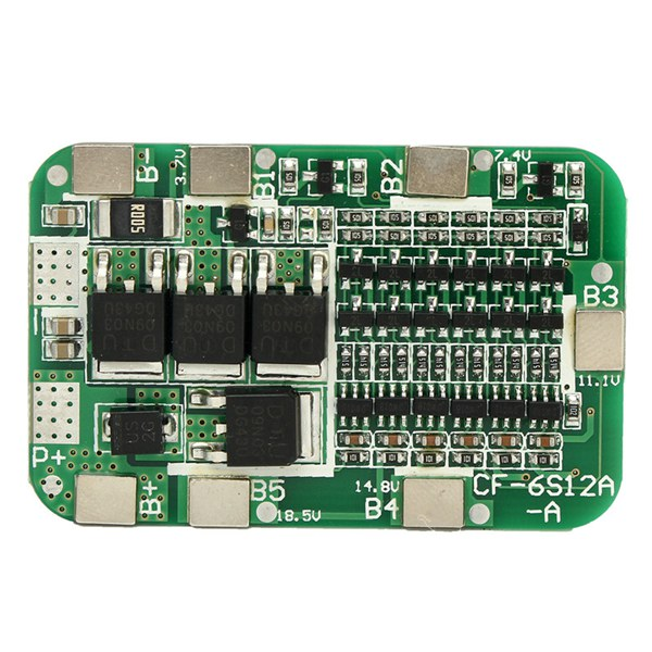 5pcs PCB BMS 6S 15A 24V Battery Protection Board For 18650 Li-ion Lithium Battery Cell