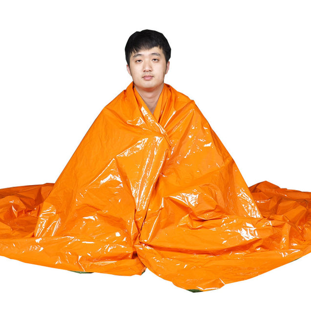IPRee 210x130cm Thermal Survival Blanket Emergency Sleeping Pads Camping Waterproof Foil Rescue