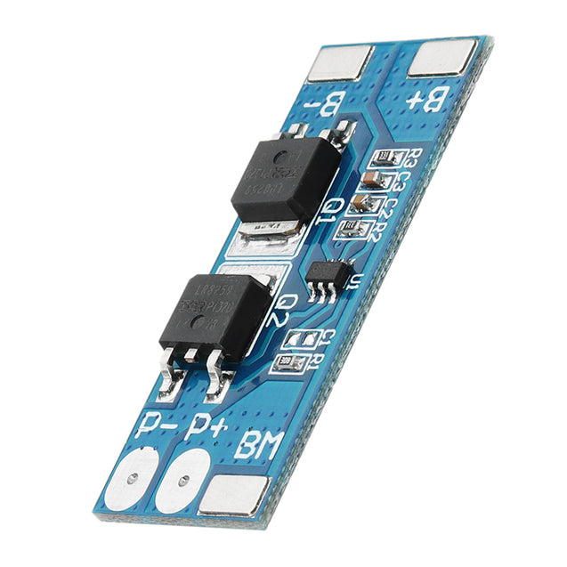 2S 7.4V 8A Peak Current 15A 18650 Lithium Battery Protection Board With Over-Charge Protection