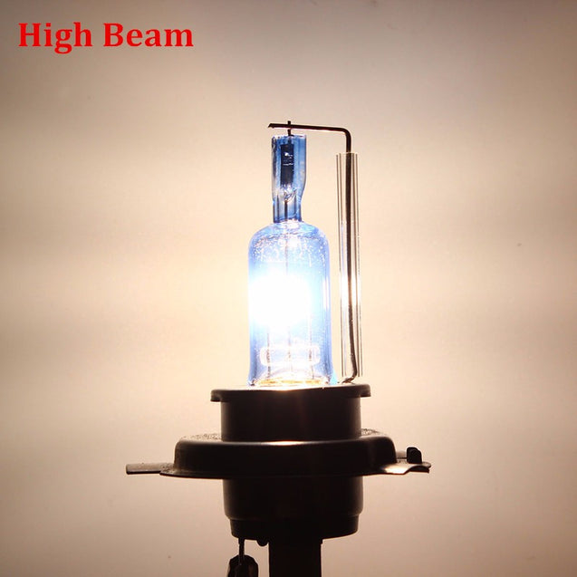 DC12V 35W H4 Headlight 3 Contactors Halogen Xenon Super White Car Bulb