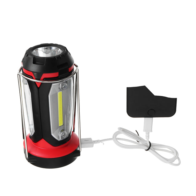 10W LED Camping Tent Light Portable Folding USB Flashlight Lamp 8 Modes Outdoor Emergency Lantern