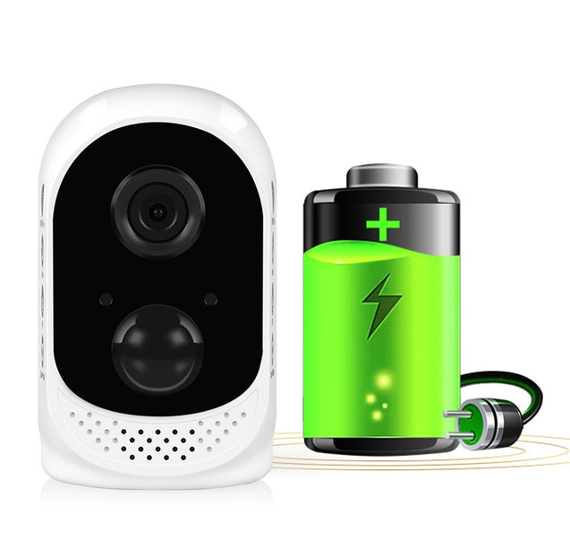 Hiseeu Rechargeable Battery Powered WiFi IP Camera Wireless 1080P PIR Alarm CCTV Home Security Cam