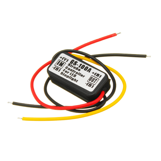 12V Waterproof Flash Strobe Controller Flasher Module For Car LED Brake Stop Lights Lamp