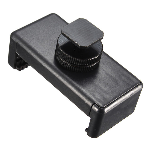 1/4inch Tripod Mount Screw Flash Hot Shoe Adapter with Phone Clip for Nikon DSLR SLR Camera iPhone
