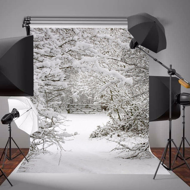 1.5x2.1m Snow Christmas Theme Background Vinyl Photography Studio Backdrop