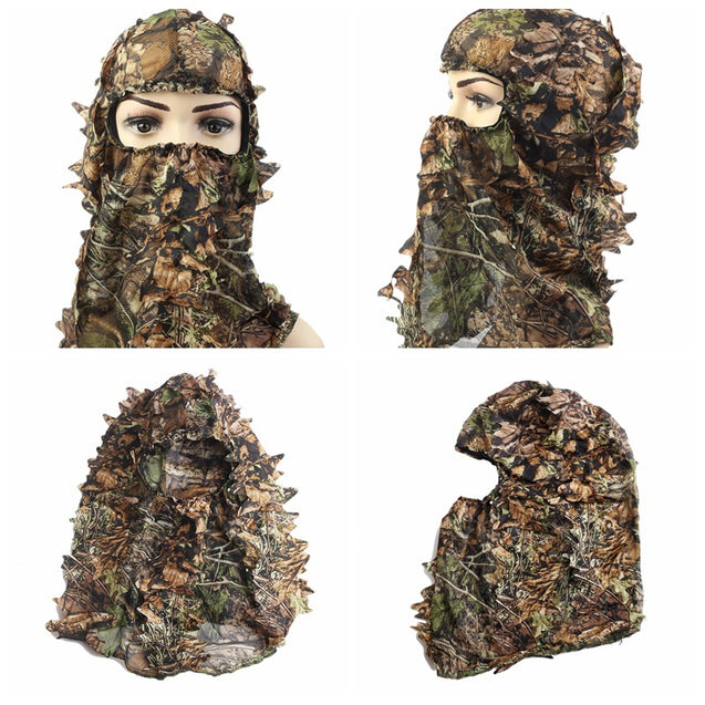 Hunting Camping Hiking Cycling Tactical Camouflage Military Fan Headgear Sets of Collar Hat Face Ma
