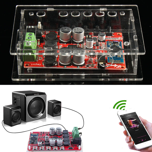 Geekcreit TDA7492P 100W Wireless Bluetooth Audio Digital Amplifier Board With Case