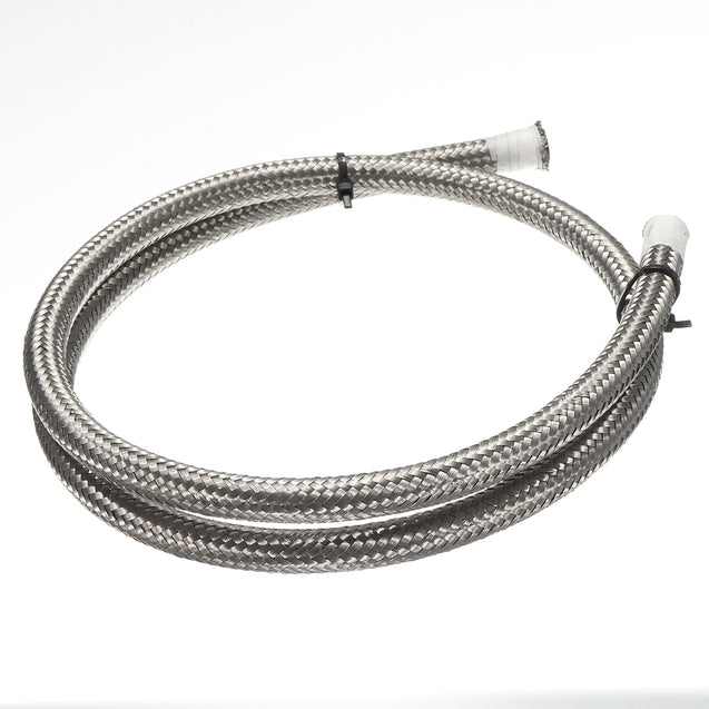 Silver Stainless Steel Braided Pipe Oil Fuel Coolant Hose AN-4 AN4 6mm 1.4 Inch 1M