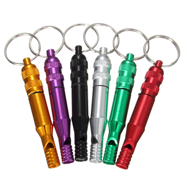 Outdooors Survival Aluminum Alloy Whistling With Key Chain