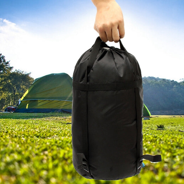 Light Weight Compression Stuff Sack Outdooors Travel Camping Sleeping Bag Black