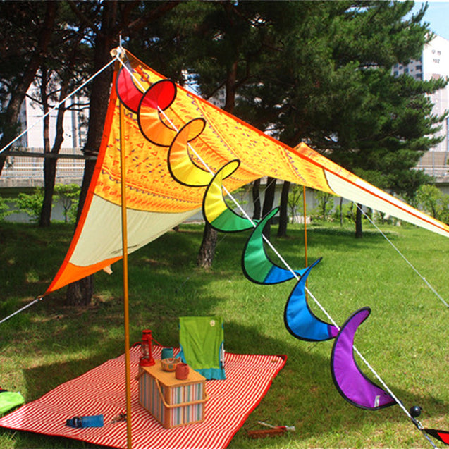 IPRee Colorful Flower Windmill Twister Spinner Camping Tent Festival Yard Garden Decoration