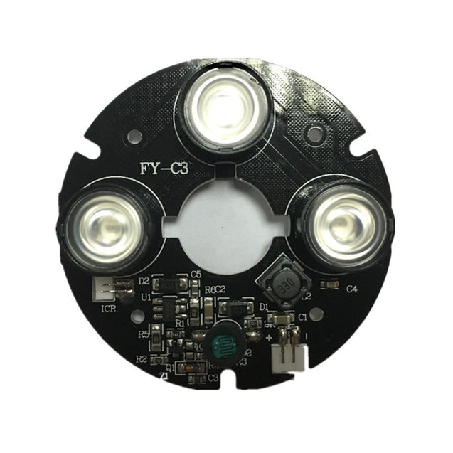 3pcs Array IR LED Spot Light 850nm Infrared Board for CCTV Hemisphere Dome Camera 63mm Diameter