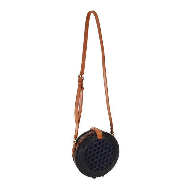 20 x 8cm Round Straw Bags Handmade Woven Beach Camping Travel Crossbody Bag Handbag Shoulder Bag